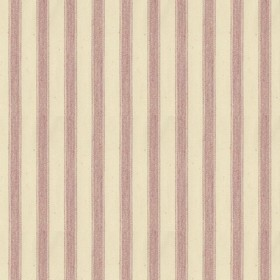 Ticking 2 - Pink - Natural cotton fabric with pink stripes