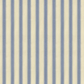 Ticking 2 - Sky - Natural cotton fabric with sky coloured stripes