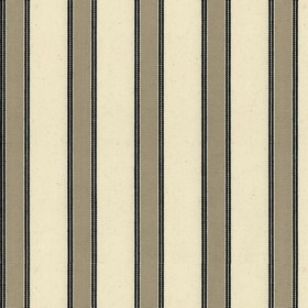 Blazer Stripe - Putty Black - Beige cotton fabric with ash brown stripes
