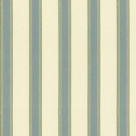 Blazer Stripe - Seagreen Sage - Beige cotton fabric with sage stripes