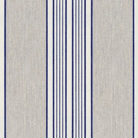 Vintage Stripe 1 - Navy - Grey cotton fabric with light grey and navy stripes