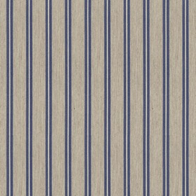 Vintage Stripe 3 - Airforce - Grey cotton fabric with blue stripes