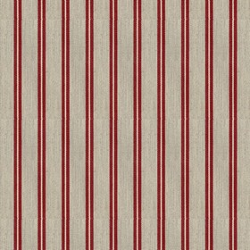 Vintage Stripe 3 - Peony - Grey cotton fabric with red stripes