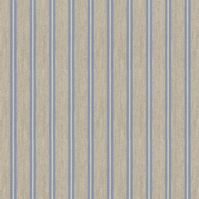 Vintage Stripe 3 - Sky - Grey cotton fabric with sky coloured stripes