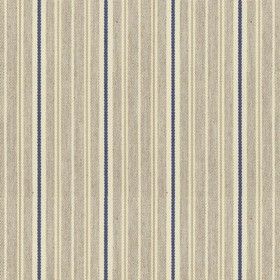 Vintage Stripe 4 - Airforce - Grey cotton fabric with light grey and blue stripes