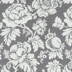 Wildflower - Charcoal - Grey cotton fabric with a modern charcoal flower pattern