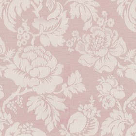 Wildflower - Pink - Light pink cotton fabric with a modern pink flower pattern