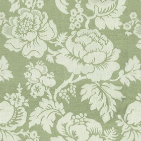 Wildflower - Sage - Beige cotton fabric with a modern sage flower pattern