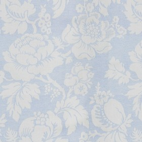 Wildflower - Sky - Beige cotton fabric with a modern sky coloured flower pattern