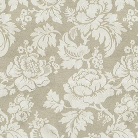 Wildflower Union - Jacquard - Beige cotton fabric with a modern jacquard coloured flower pattern