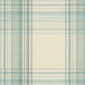 Brighton Check - Mint - Beige cotton fabric with mint checkered pattern