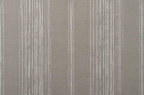 Brompton - Linen - A design of patchy stripes printed on a plain linen fabric background in two different shades of grey
