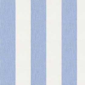 Devon Stripe - Bluebell - Alternating light blue and cream stripes on cotton fabric