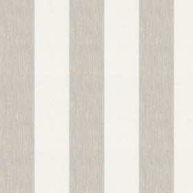 Devon Stripe - Cream - Fabric made from white and light grey striped cotton