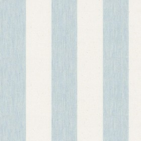 Devon Stripe - Mint - Warm cream and light blue coloured cotton fabric featuring an even striped pattern