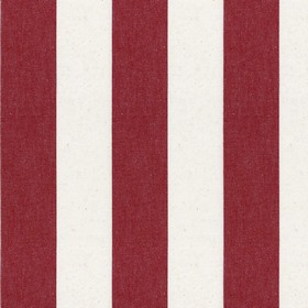Devon Stripe - Peony - Striped cotton fabric in just two shades: dark red and white