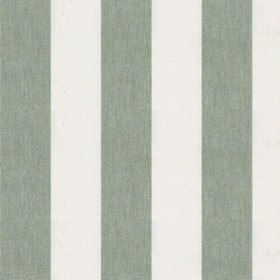 Devon Stripe - Sage - A design of alternating white and green stripes on this cotton fabric