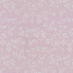 Kew - Pink - Light grey and light, dusky pink coloured linen fabric with a small, subtle floral pattern