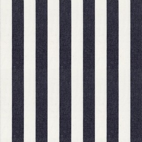 Norfolk Stripe - Black - Coal black and off-white coloured stripes making up a simple, vertical, wide pattern on fabric made from 100% cotto