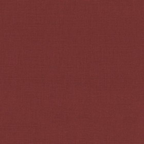 Putney - Peony - Deep red, unpatterned linen fabric