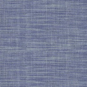Arran - Blue FR - Dark and light blue coloured Herringbone style zigzags on fabric with a viscose and linen blend