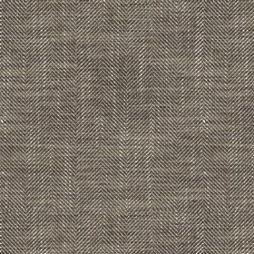 Arran - Brown FR - Fabric made from viscose and linen with a dark brown and cream coloured Herringbone style zigzag pattern