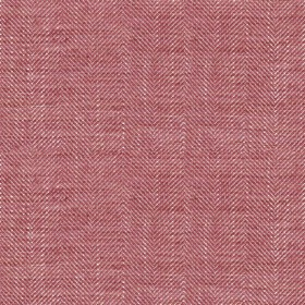 Arran - Peony FR - Fabric made from dark red and white coloured viscose and linen with a thin Herringbone style zigzag pattern