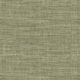 Arran - Sage FR - Viscose and linen blend fabric with a thin Herringbone style zigzag pattern in two different shades of green