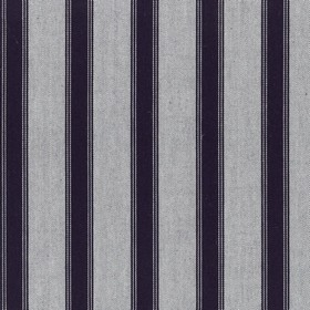 Blazer Stripe - Dark Navy - Very dark navy blue & light ash grey making up a simple, classic vertical stripe design on fabric made from 100%