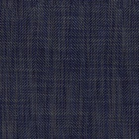 Dunoon - Dark Navy - Semi-plain viscose and linen blend fabric woven in a very dark shade of navy blue