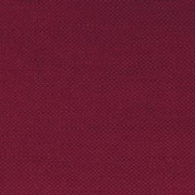 Campbell Union - Peony - Plain linen fabric with dark red colour