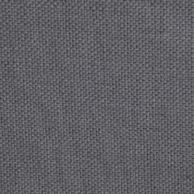 Campbell Union - Silver - Plain linen fabric with dark silver colour