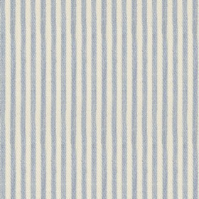 Candy Stripe - Bluebell - Beige cotton fabric with blue stripes