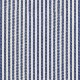 Candy Stripe - Indigo - Beige cotton fabric with indigo stripes
