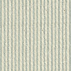 Candy Stripe - Mint - Beige cotton fabric with mint stripes