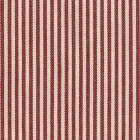 Candy Stripe - Peony - Beige cotton fabric with red stripes