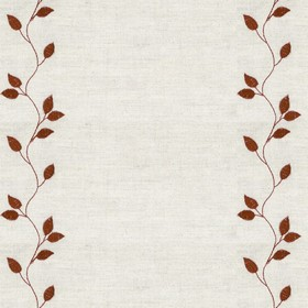 Embroidered Union - Leaf Bronze - Taupe cotton fabric with bronze cloroured leaf pattern