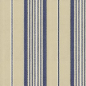 Empire 1 - Airforce - Beige cotton fabric dark blue stripes