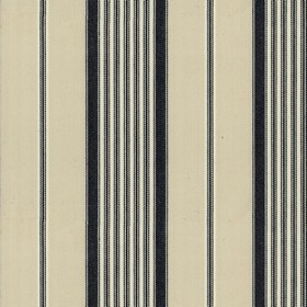 Empire 1 - Black - Beige cotton fabric black stripes