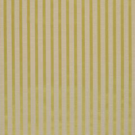 Savoy Stripe - Quince - Simply striped linen and silk blend fabric featuring bands which alternate between warm cream and green-gold