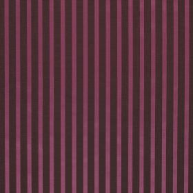 Savoy Stripe - Foxglove - Fabric made from linen and silk with a simple design of charcoal and fuschia coloured stripes