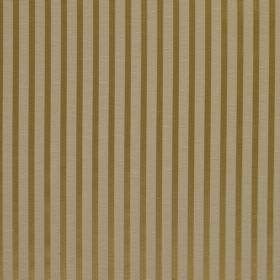 Savoy Stripe - Dijon - Striped linen and silk blend fabric with a simple design which alternates between light beige and gold colours