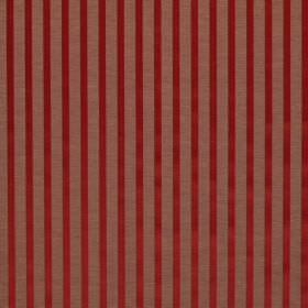 Savoy Stripe - Chili - Fabric made from dusky pink and shiny red striped linen and silk