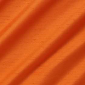 Astor - Clementine - Bright orange folds of 100% polyester fabric