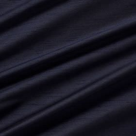 Astor - Navy - 100% polyester fabric arranged in jet black coloured swathes