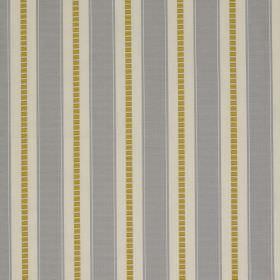 Astor Stripe - Titanium - Fabric made from 100% polyester with a regular striped design inlight grey, cream and olive green