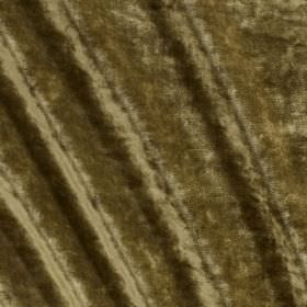 Carnaby Velvet - Olivewood - Slightly patchy, textured fabric made from cotton, viscose, polyester and silk in a dark shade of khaki green