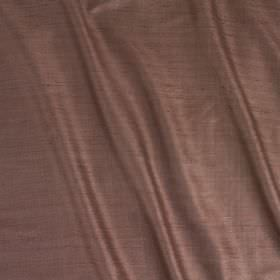 Vienne Silk - Porcini - Light aubergine coloured fabric made with a mixed silk and viscose content