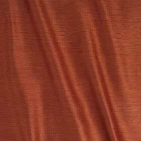 Vienne Silk - Sumatra - Rich brick red coloured fabric blended from a luxurious combination of silk and viscose