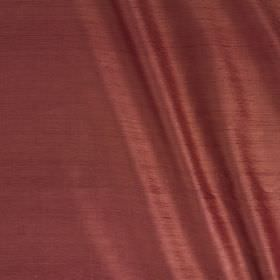 Vienne Silk - Cornelian - Fabric made from a deep maroon coloured blend of silk and viscose